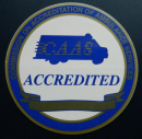 """ACCREDITED"" Vehicle Stickers (6"" diameter)"